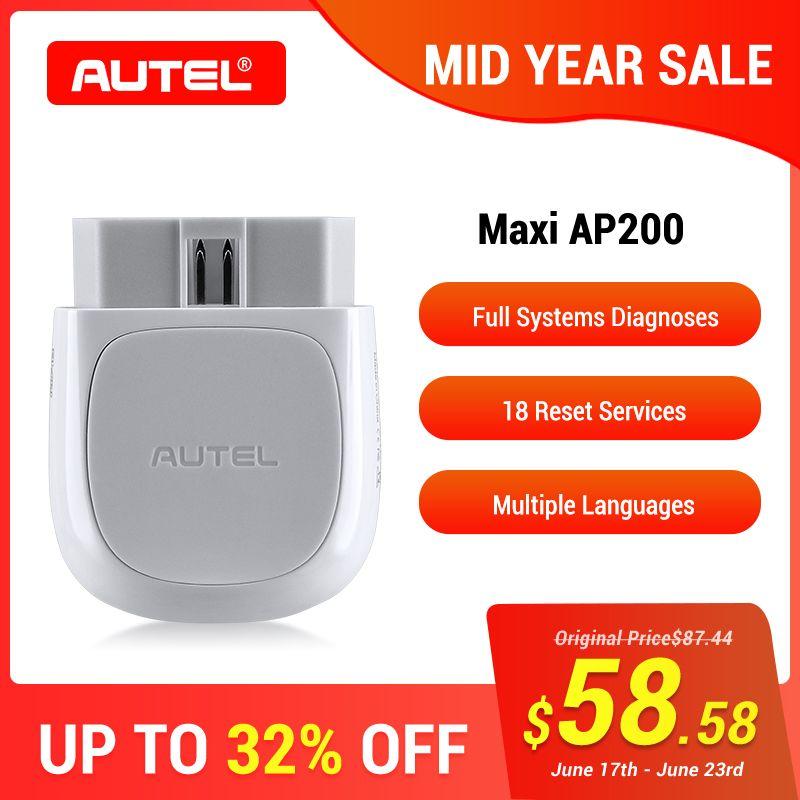 Autel AP200 Bluetooth OBD2 Scanner Code Reader mit Voller Systeme Diagnosen AutoVIN TPMS IMMO Service Familie Heimwerker PK EasyDiag