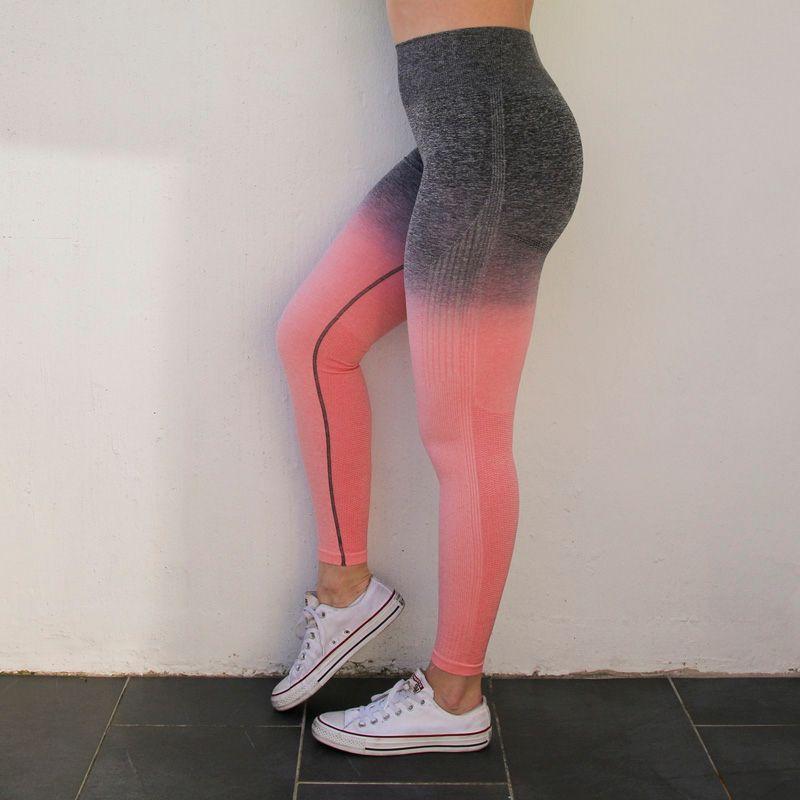 Nepoagym femmes Ombre sans couture Leggings en sarcelle taille haute Yoga pantalon femme Sport Leggings formation collants Gym Fitness Leggings