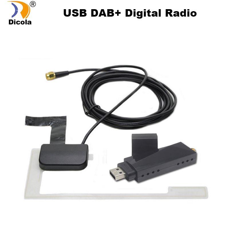 USB 2.0 numérique DAB + Radio Tuner récepteur bâton pour Android voiture lecteur DVD Autoradio stéréo USB DAB Android Radio Autoradio