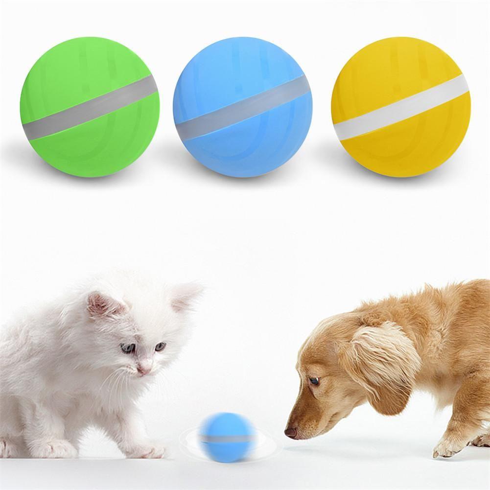 2020 chaud imperméable à l'eau enfant jouet magique rouleau balle sautante USB électrique Pet balle LED roulement Flash balle amusant jouet pour chat chien enfants