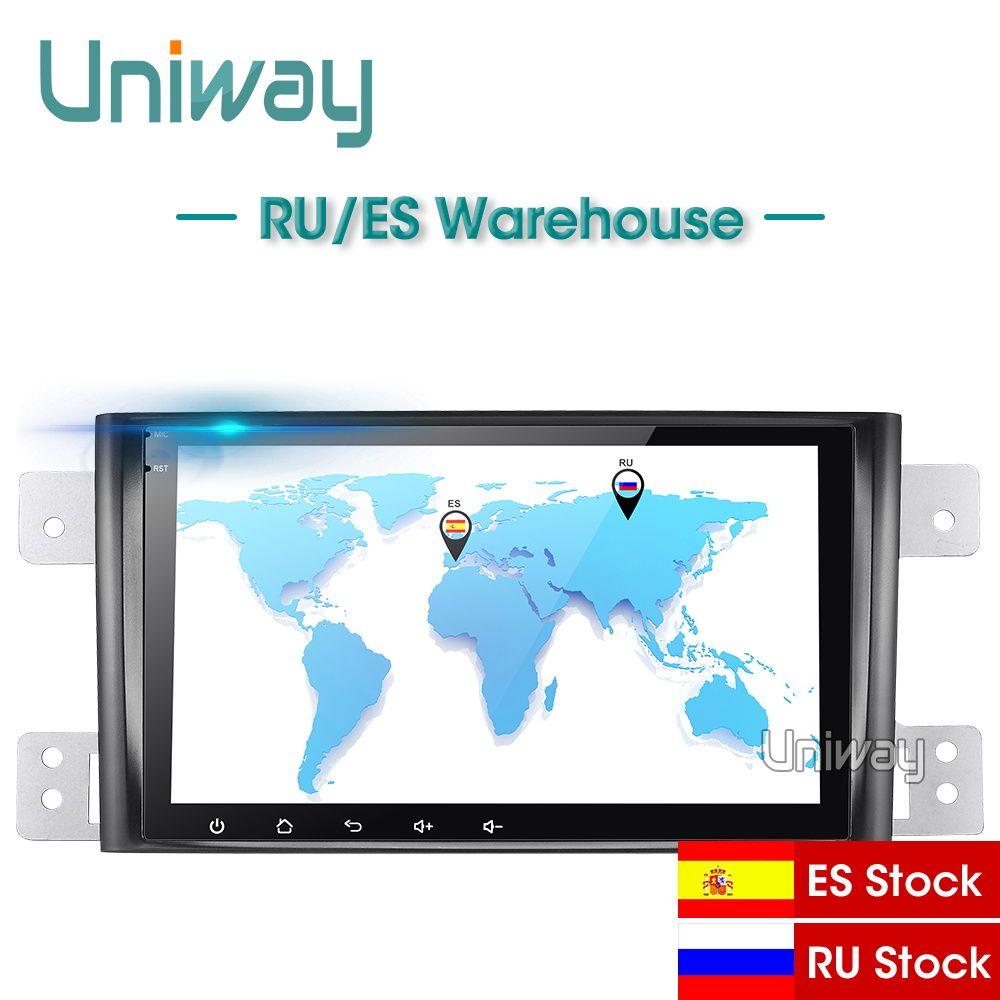 Uniway AWTL8071 2G + 32G android 9.0 auto dvd für suzuki grand 2006-2011 vitara multimedia auto radio stereo gps mit lenkrad