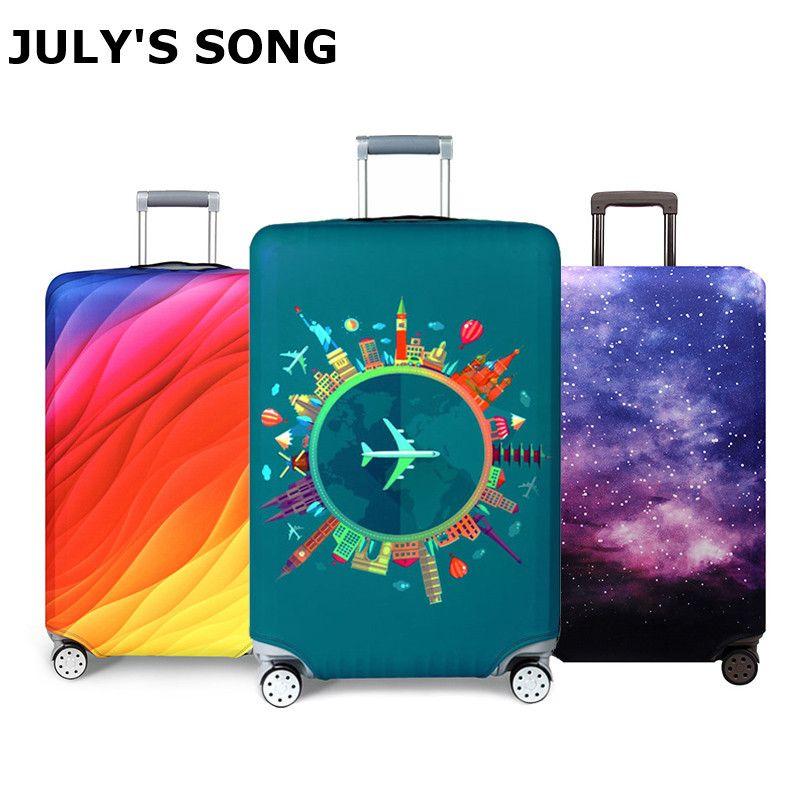 Housse de protection pour bagages de voyage plus épaisse housse de protection pour valise accessoire de voyage housse de bagage élastique Baggag applicable à la valise de 18-32 pouces
