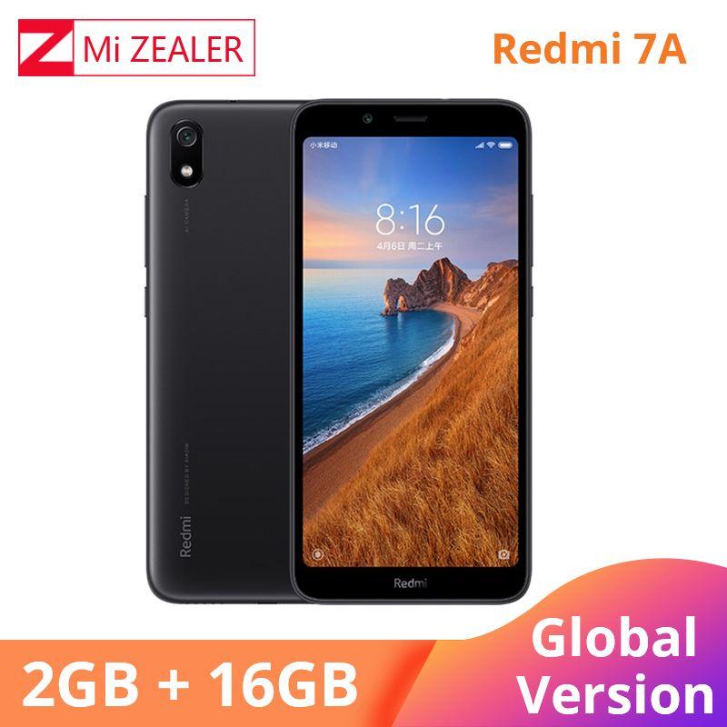 Version mondiale Original Redmi 7A téléphone portable 2GB 16GB Smartphone Snapdargon 439 Octa core 5.45 4000 mAh batterie