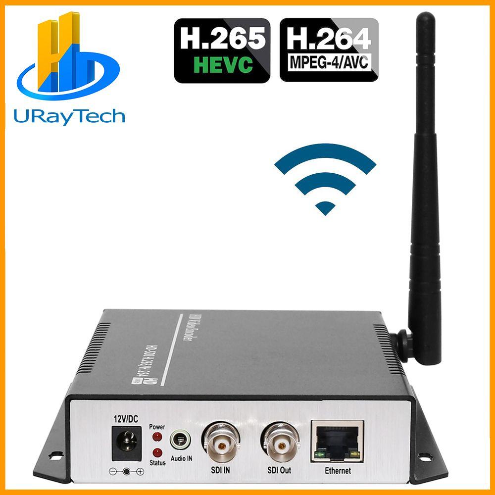 URay H.265 H.264 SD HD 3G SDI Zu IP Streaming Video Wireless Encoder WIFI Encoder Unterstützung HTTP RTSP RTMP UDP ONVIF