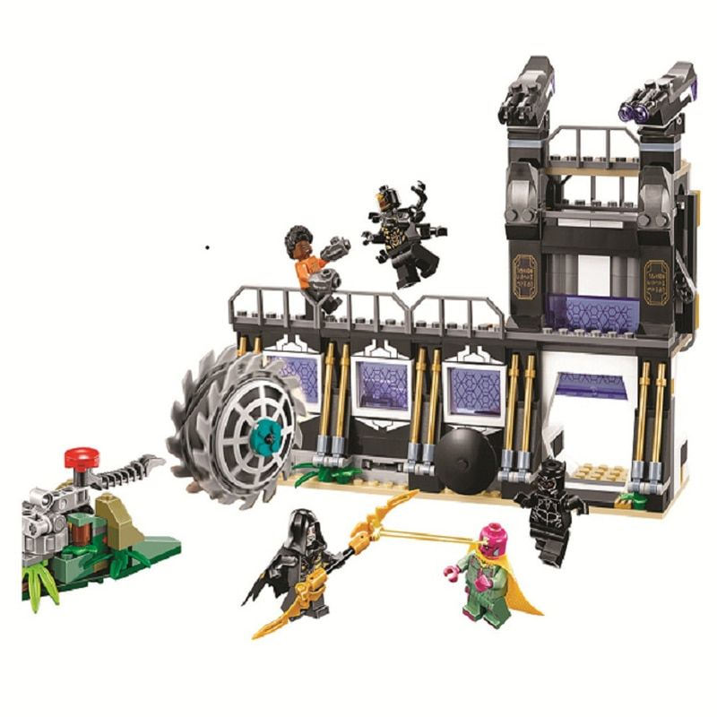 10838 Compatible Legoinglys Marvel Avengers Infinity War Super Heroes Corvus Glaive Thresher Attack Building Block Brick Toys