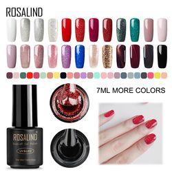 ROSALIND 7ML UV Gel Varnish Nail Polish Set For Manicure Gellak Semi Permanent Hybrid Nails Art Off Prime White gel nail polish