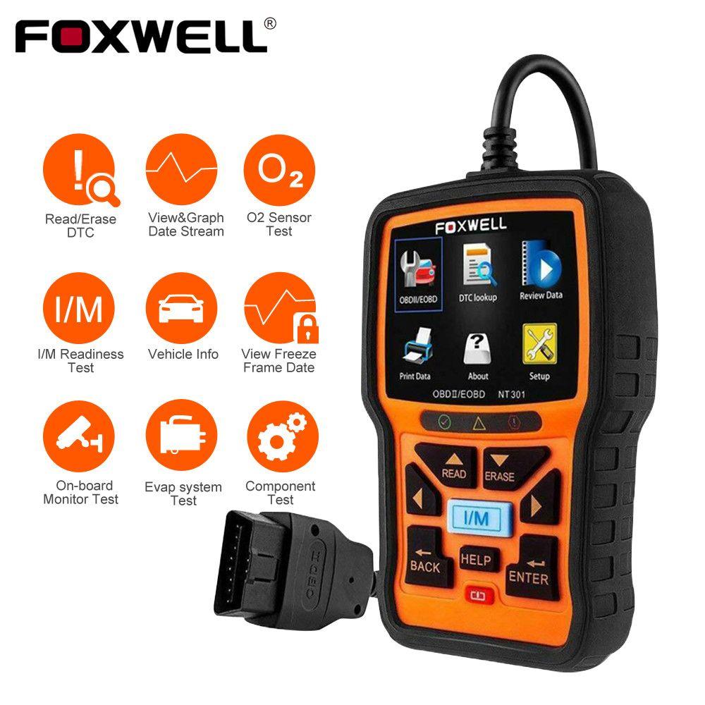 FOXWELL NT301 OBD2 Scanner professionnel EOBD OBDII lecteur de Code moteur vérifier ODB2 OBD 2 automobile Scanner voiture outil de Diagnostic