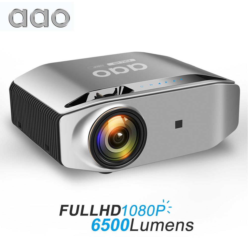 AAO Native 1080p Full HD Projektor YG620 LED Proyector 1920x1080 P 3D Video YG621 Drahtlose WiFi Multi -bildschirm Beamer Heimkino