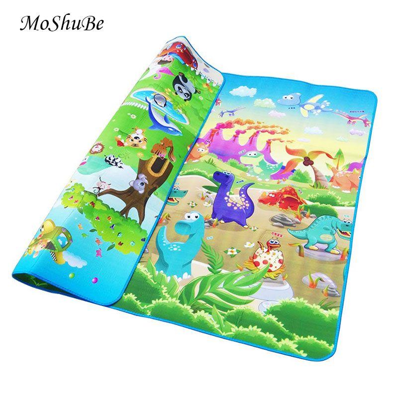 Tapis de jeu bébé 0.5cm épais tapis rampant Double Surface bébé tapis tapis Animal voiture + dinosaure tapis de développement pour enfants tapis de jeu