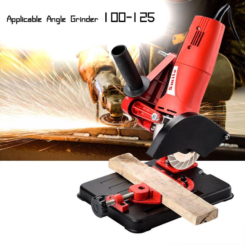 Support de meuleuse d'angle support de meuleuse d'angle pour 100-125 meuleuse d'angle de coupe Base en fonte accessoire d'outil électrique