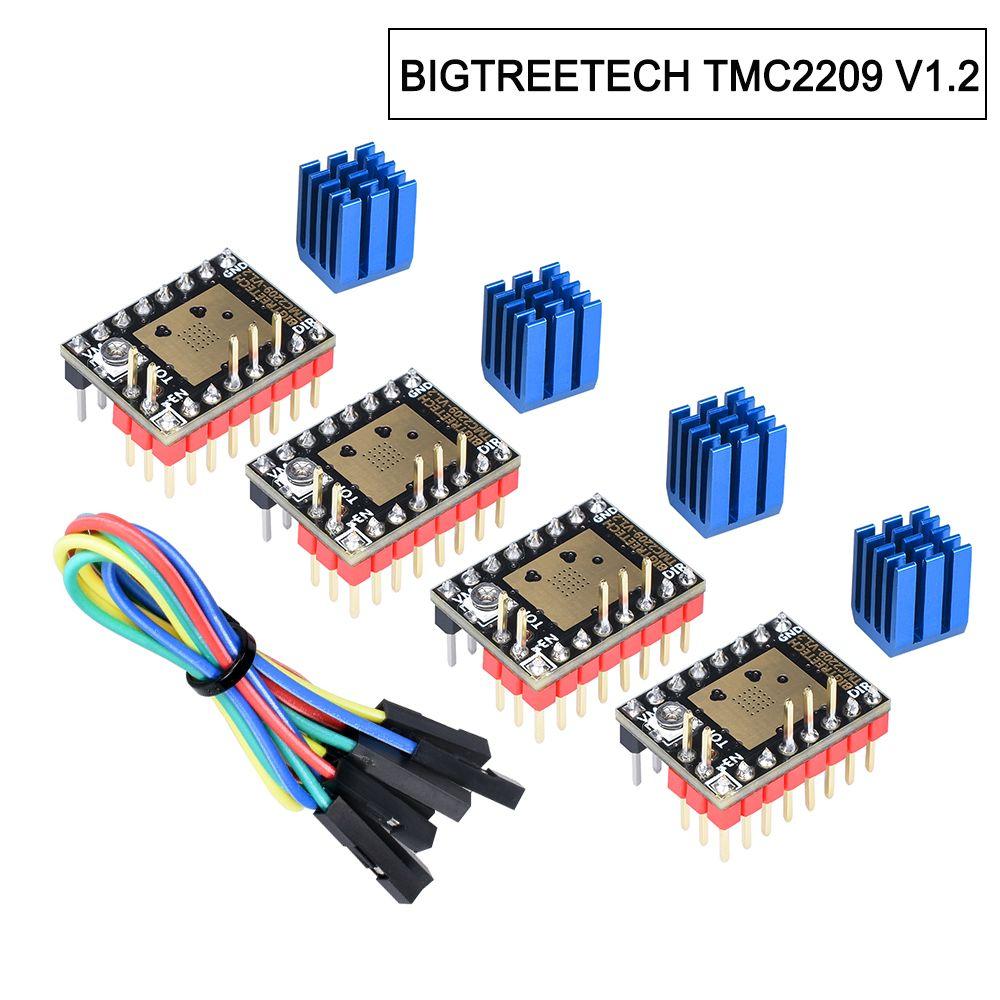 BIGTREETECH TMC2209 V1.2 Stepper Motor Driver TMC2208 UART Driver 2.8A 3D Printer Parts VS TMC2130 TMC5160 For SKR V1.3 mini E3