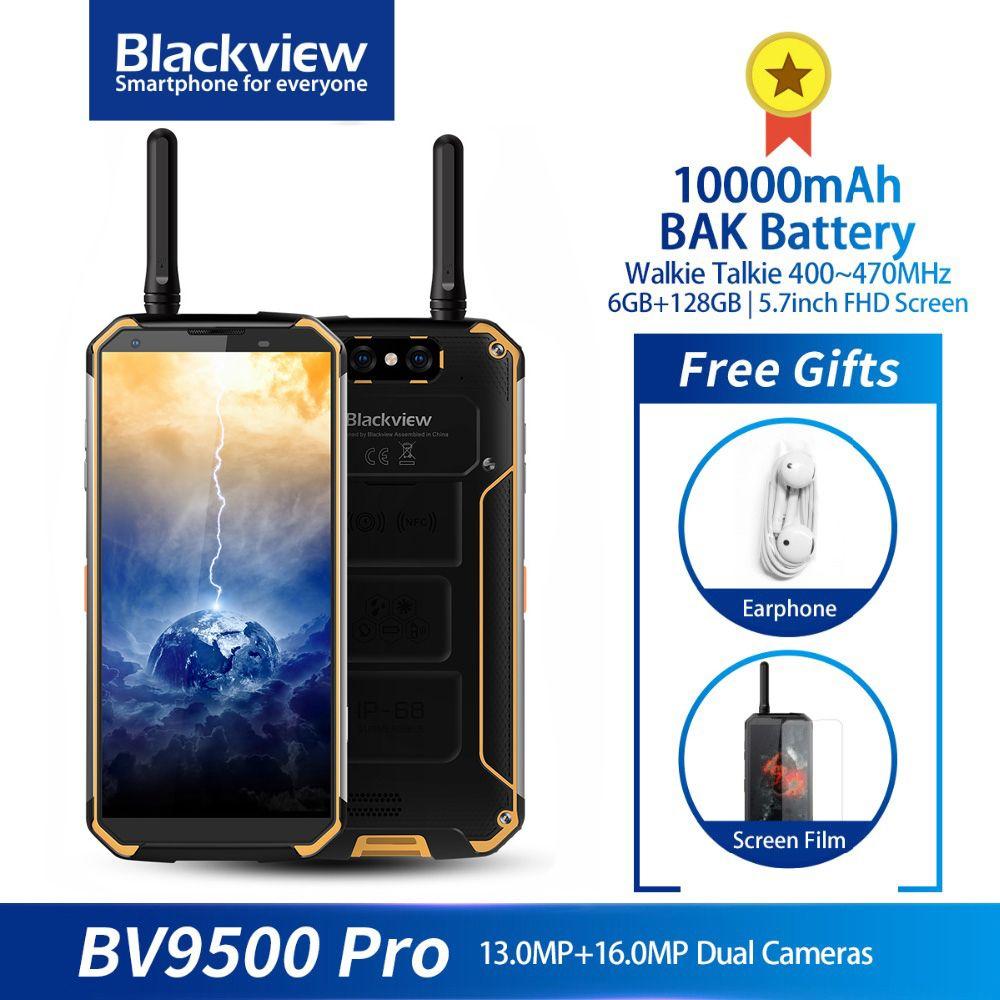 Blackview BV9500 Pro IP68 Robuste Wasserdichte Walkie Talkie Smartphone 6GB 128GB 10000mAh Batterie Octa Core 5,7'' 18:9 NFC Telefon