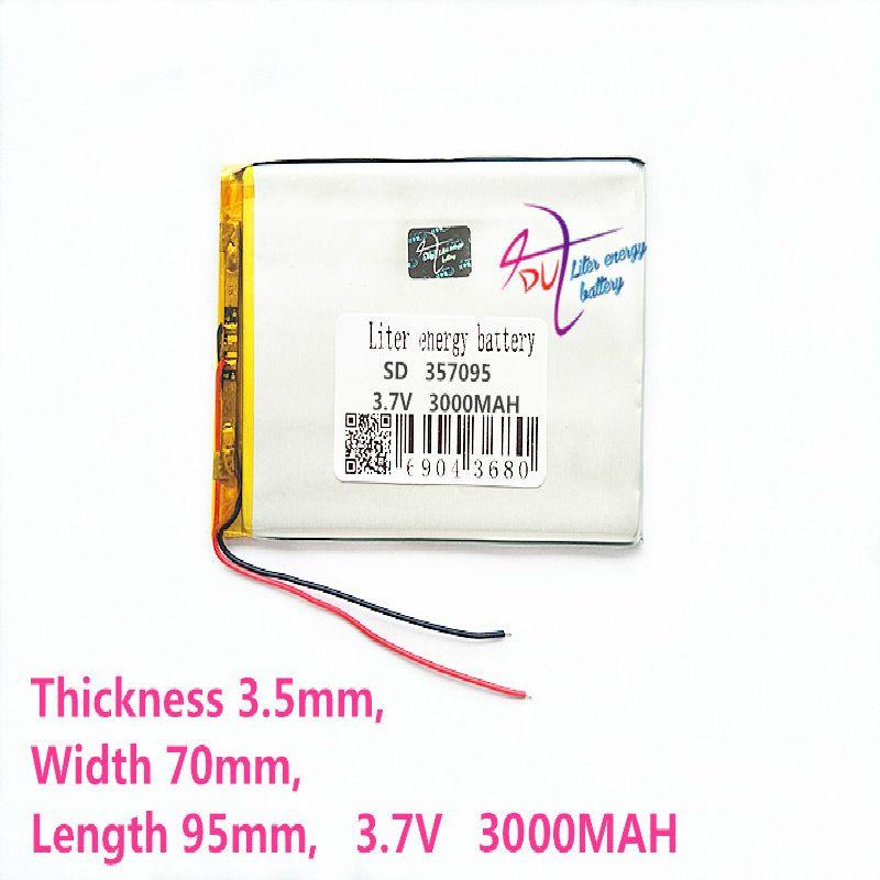 357095 3.7V 3000MAH (batterie de remplacement de batterie au lithium-ion polymère pour tablette pc 7 pouces MP3 MP4