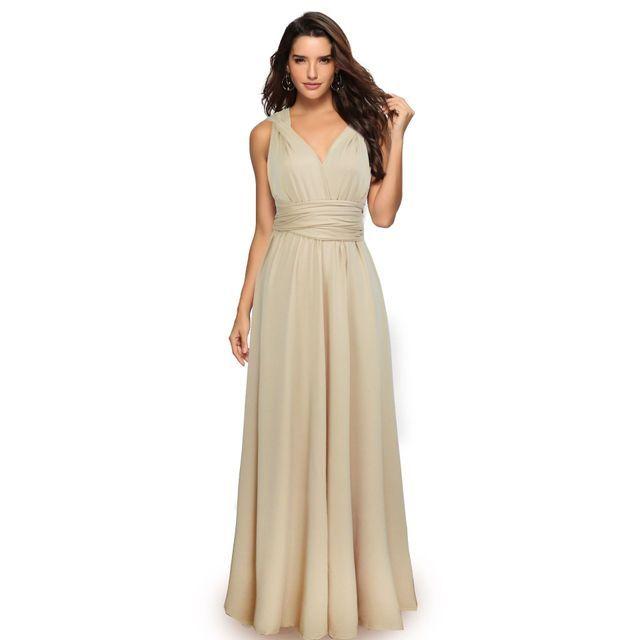 Nouvelle mode arrivée femmes multi-robe, multi-corde croix-dos sexy robe de pansement et longue robe