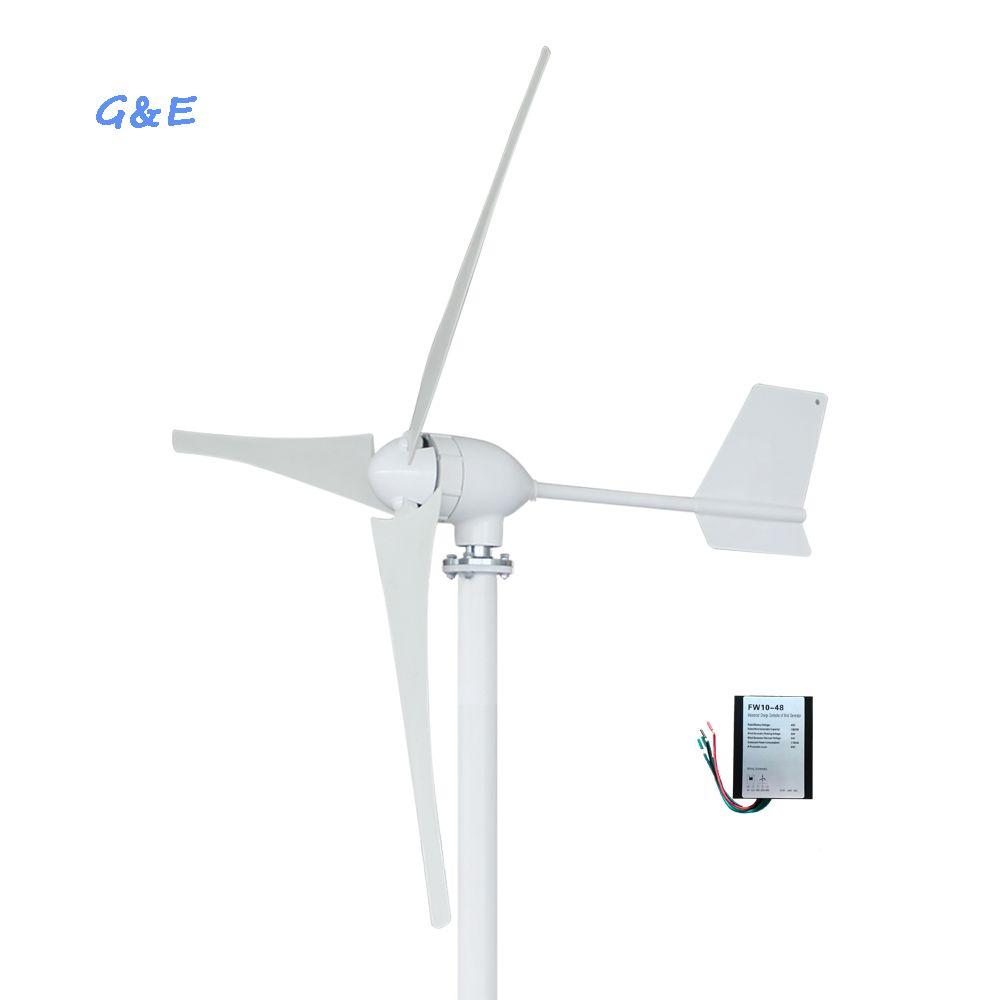 Horizontale Achse Wind Turbine 800W 12V 24V 48V Wind Generator Für Den Heimgebrauch