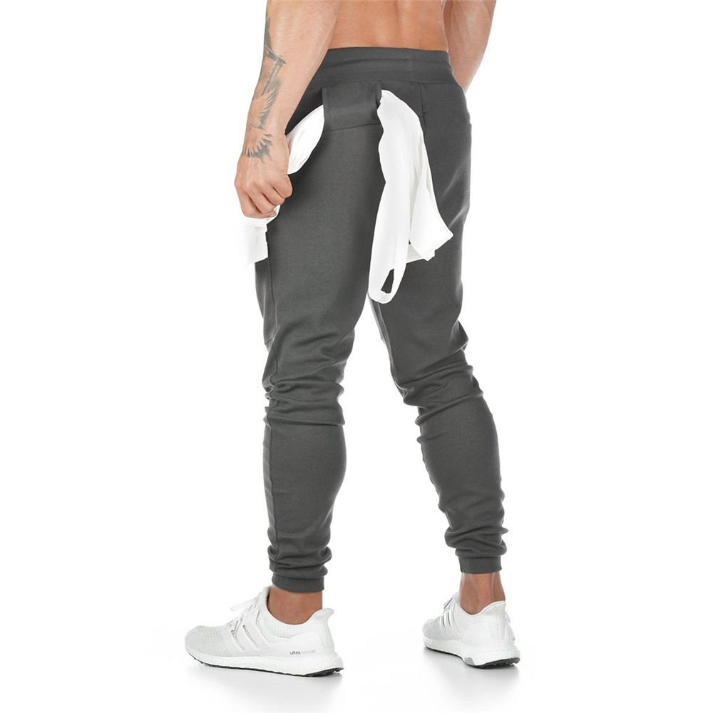 Jogger Sweatpants Men Casual Pants Solid Gray Black Gyms Fitness Workout Sportswear Trousers Male Cotton Trackpants Pencil pants