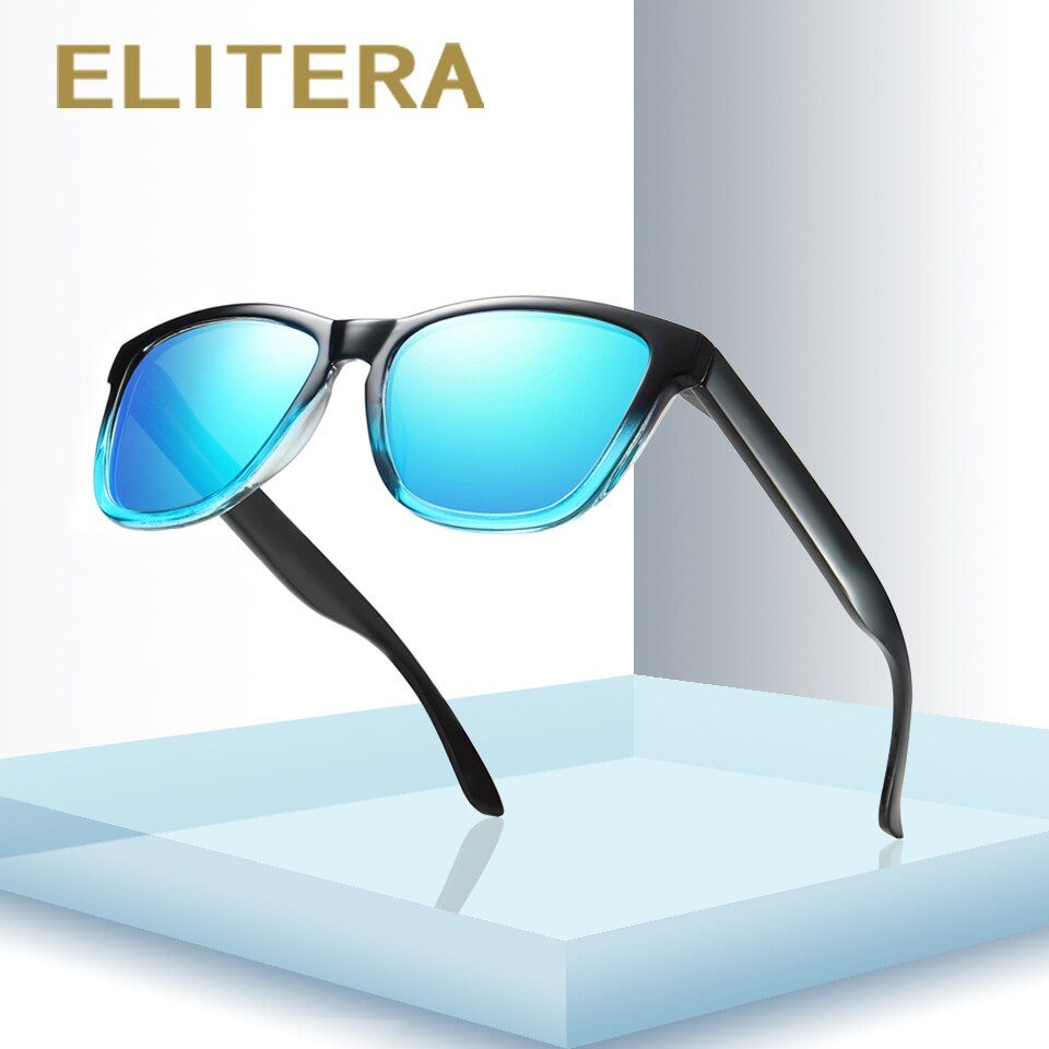 ELITERA Nouvelle Mode Polarisées Femmes lunettes de Soleil Célèbre Dame Marque Designer Gradient Couleurs Revêtement Miroir Lunettes de Soleil UV400