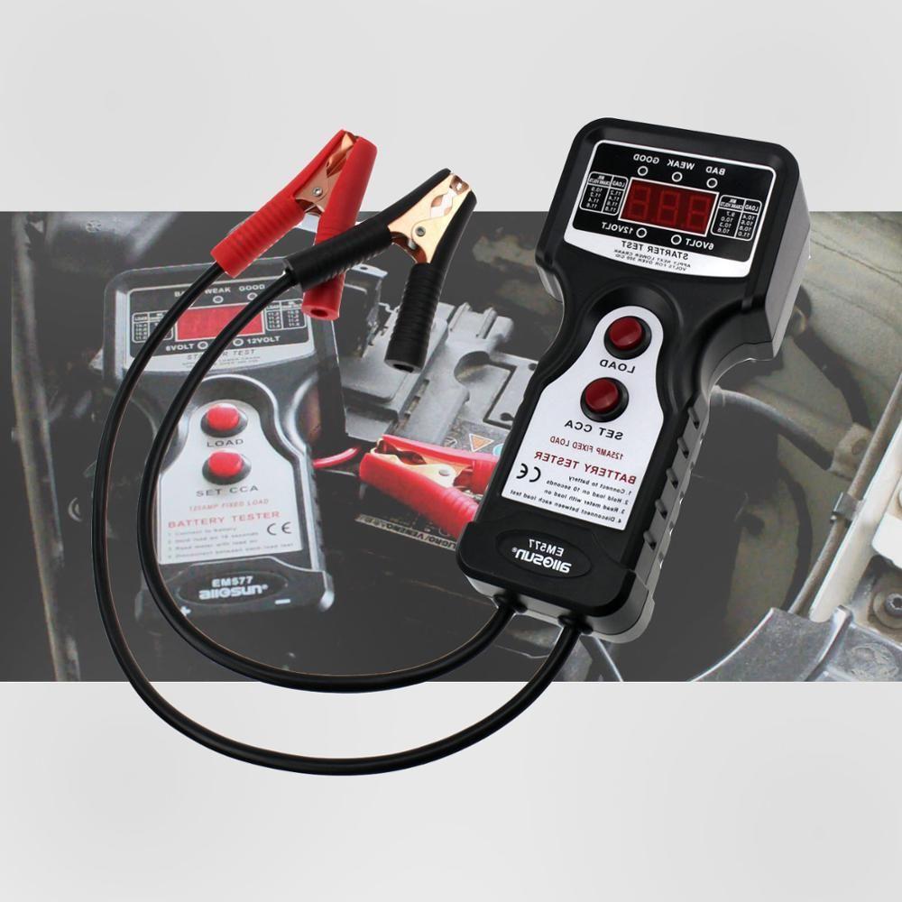 Analyseur de batterie automobile numérique outils de Diagnostic de batterie test de tension de charge de moteur de démarreur professionnel tout-soleil EM577