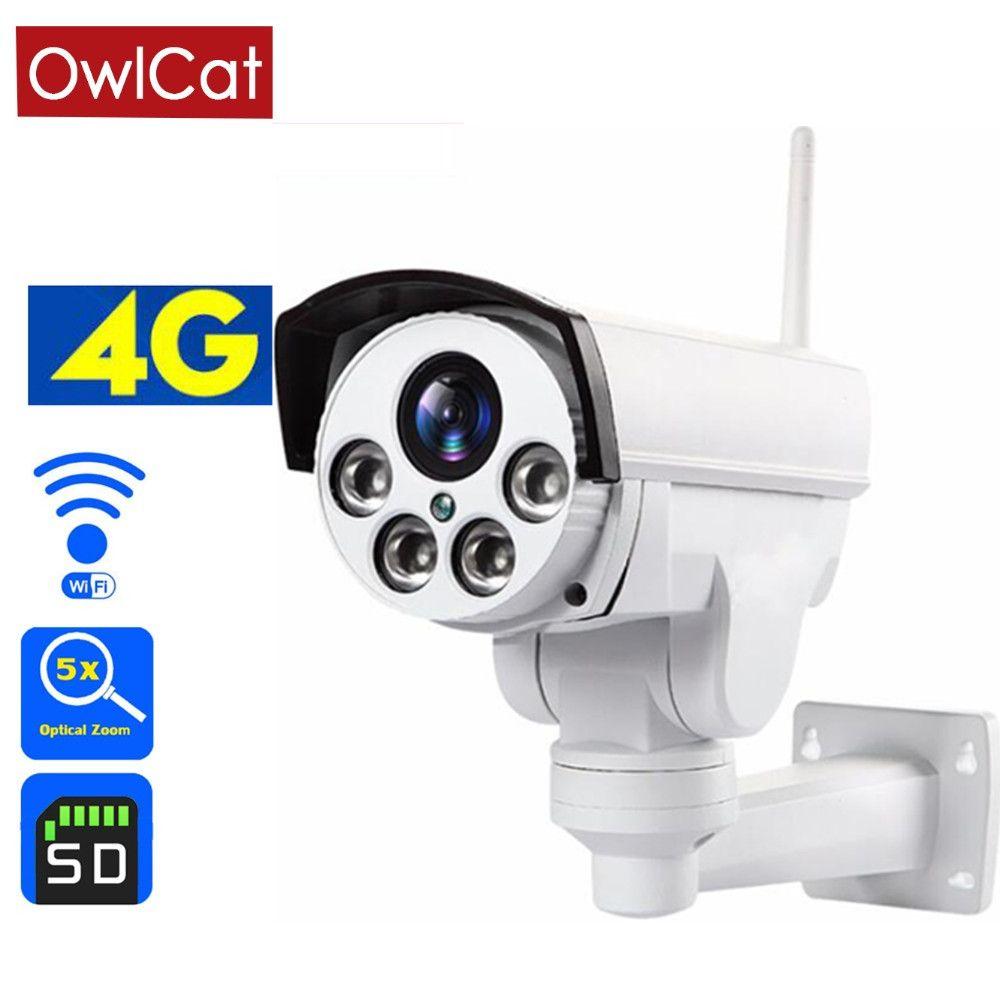 Owlcat 3G 4G carte Sim caméra IP Wifi PTZ HD 2MP 5MP 5X 10X Zoom optique mise au point automatique micro Audio sécurité caméra de Surveillance vidéo
