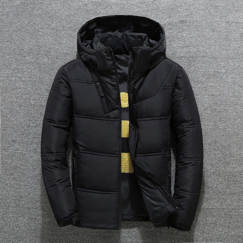 2019 männer der Winter Jacke Parkas Mantel Mit Kapuze Casual Mann Outwear Jaket Männer Winter Winddicht Rot Schwarz Dropshipping
