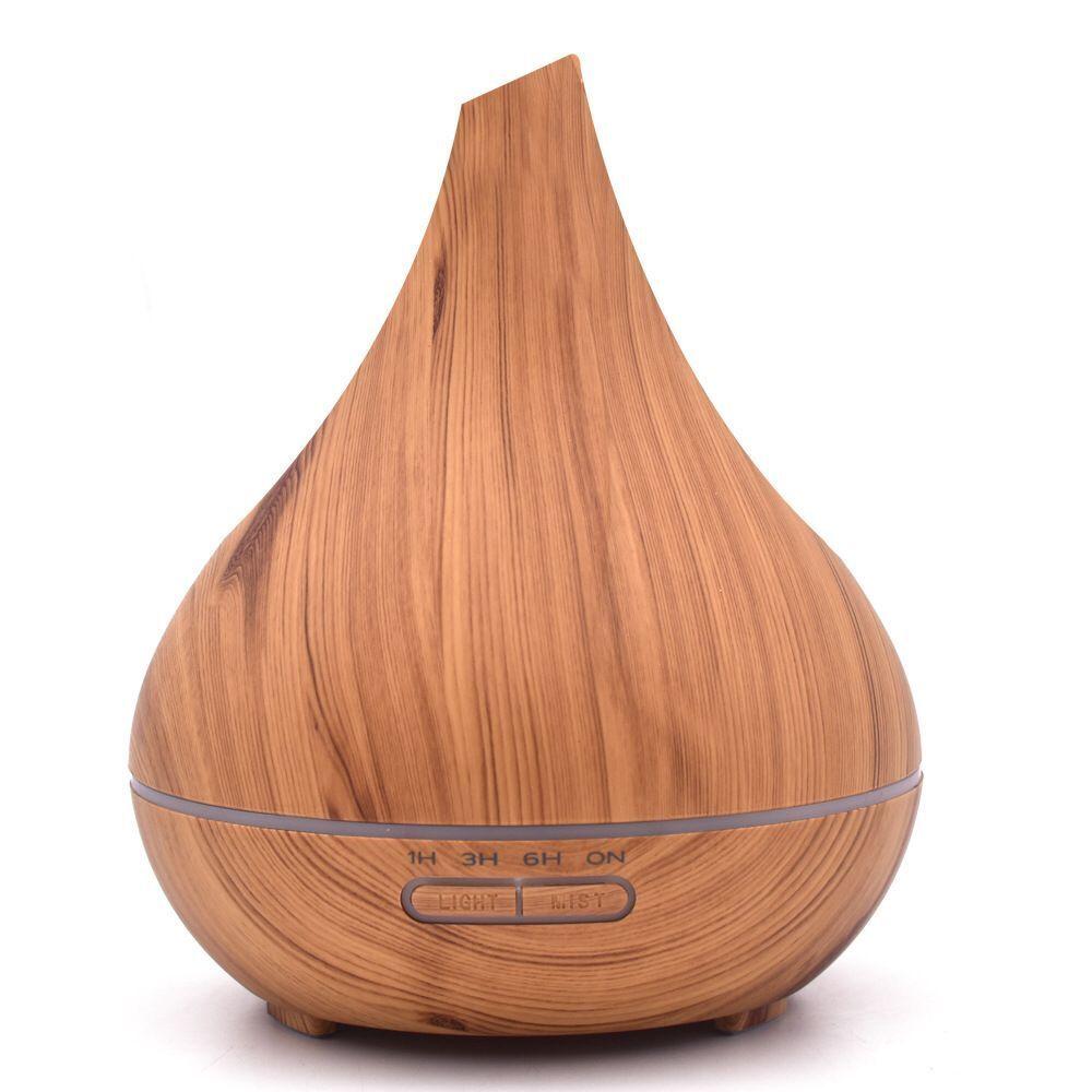 400ML humidificateur d'air à grain de bois diffuseur d'huile essentielle générateur de brouillard humide muet maison et bureau 7LED diffuseur d'arôme arôme H