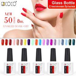 70312#Cheap Long Lasting Gel Nail Polish Canni Supply 50 Colors GDCOCO Soak Off UV LED Gel Varnish Coat Color Polish Gel