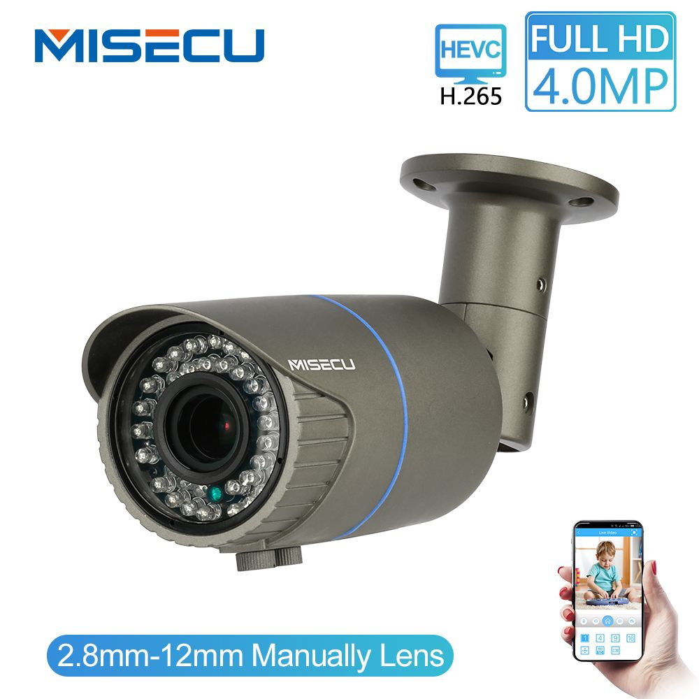 MISECU Volle HD 4.0MP 2.0MP 1080P 2,8-12mm Manuelle Zoom Kamera IP Power Over Ethernet Outdoor Nacht vision ONVIF IR Wasserdichte P2P