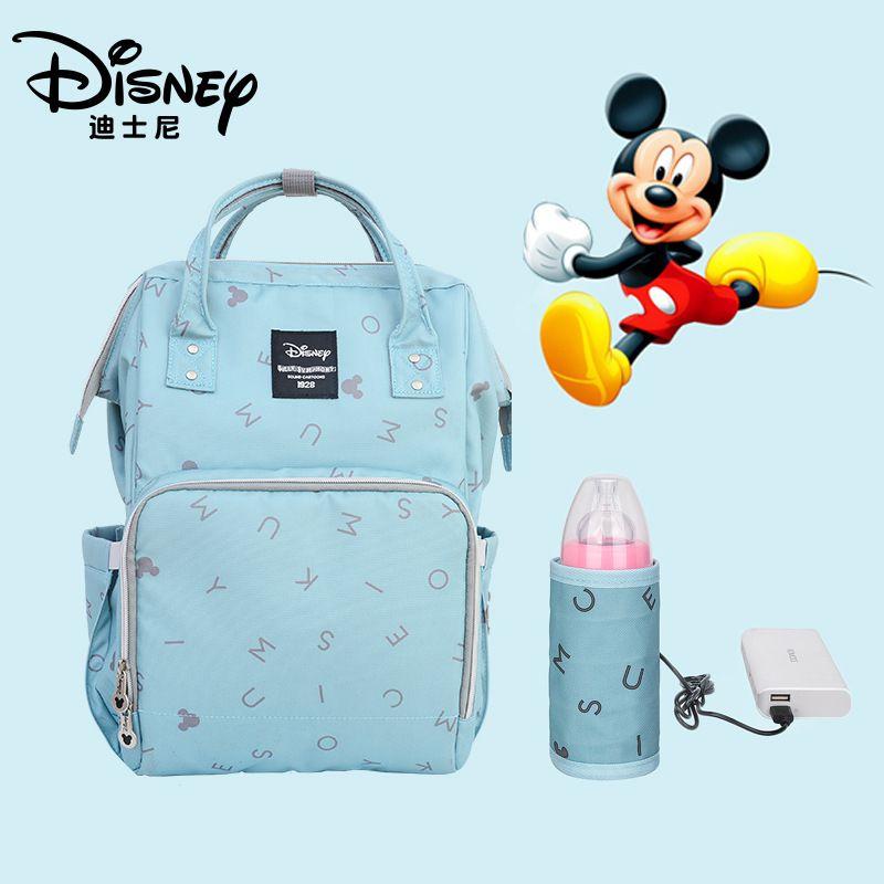 Sacs de transport Disney grande capacité sac à couches maternel bébé poussette momie soins infirmiers organisateur sac à dos sac à main de voyage
