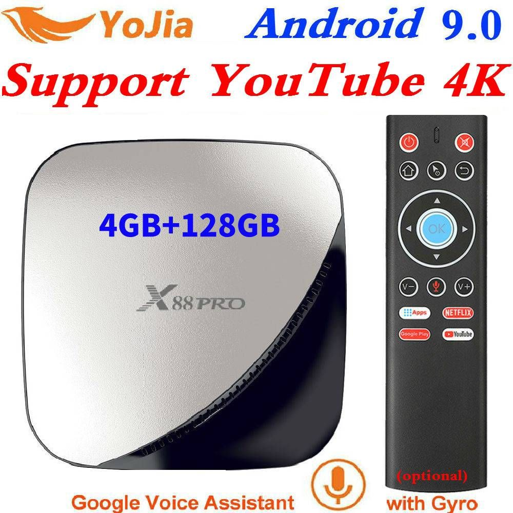 X88 pro Smart 4K Android 9.0 TV Box 4GB RAM Max 128GB ROM 64GB RK3318 4Core 5G double Wifi 2G16G décodeur lecteur multimédia YouTube