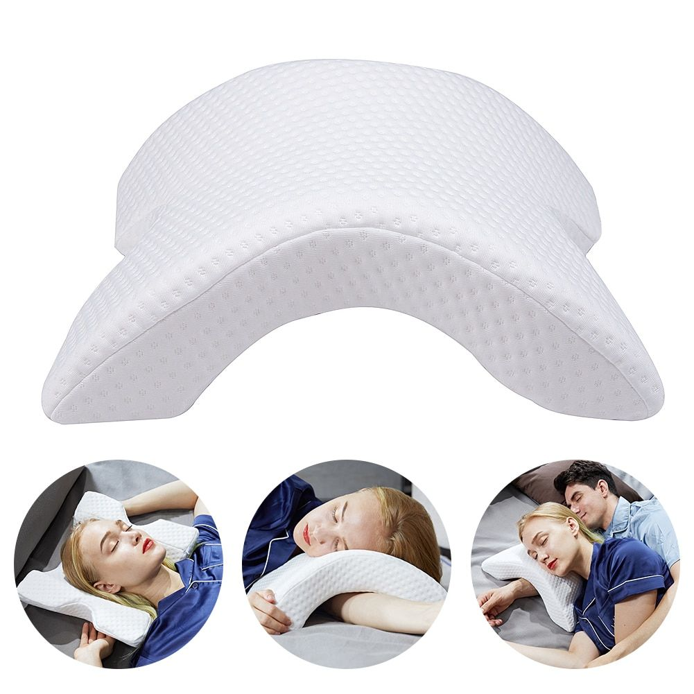 New Memory Foam Bedding Pillow Anti-pressure Hand Pillow Ice Silk Slow Rebound Multifunction Pillow Home Silk Couple Beding