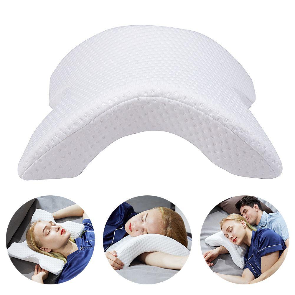 Oreiller en mousse à mémoire de forme Anti-pression main oreiller cou Protection rebond lent multifonction literie oreiller Couple oreiller