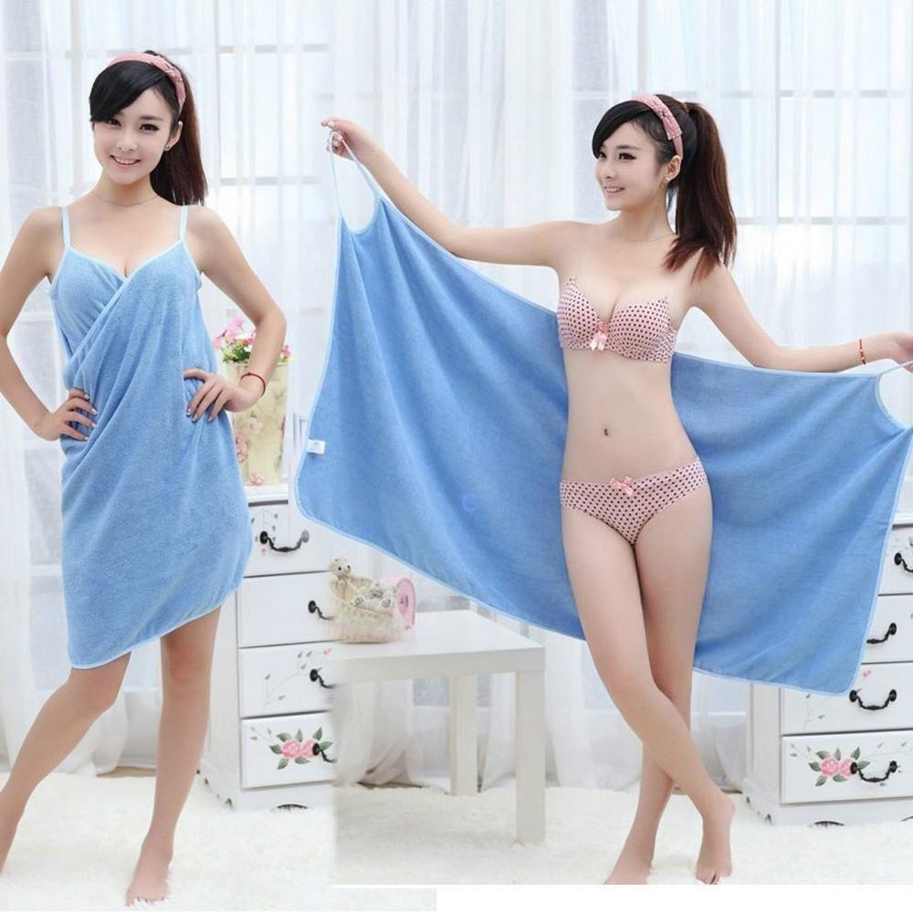 Nouvelle Maison Textile Serviette Femmes Peignoirs Bain serviette portable Robe Femmes Dame Séchage Rapide Plage Spa Magique vêtements De Nuit