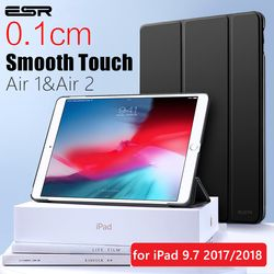 ESR Case for iPad Air 1 Air 2 9.7 2018 Rubber Oil Cover Soft PU leather Ultra Slim Black Blue Pink Smart Case for iPad 9.7 2017