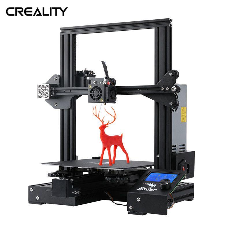 CREALITY 3D New Brand Ender-3 Pro 3D Printer Open Build Large Print Size 3D Drucker Impresora Printer Kit Resume Print
