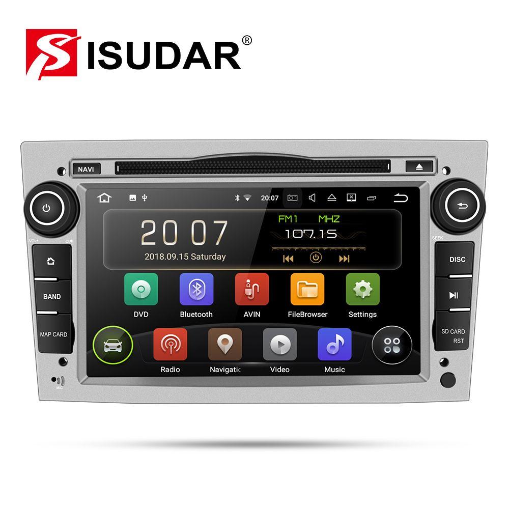 Lecteur multimédia de voiture Isudar GPS Android 9 2 Din DVD Automotivo pour OPEL/ASTRA/Zafira/Combo/Corsa/Antara/Vivaro Radio FM DSP DVR
