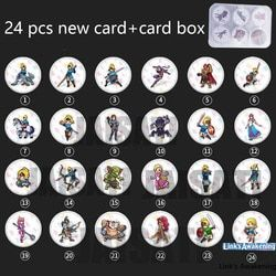 24PCS NTAG215 Game NFC Cards New 4 Hero Data Tag 20 heart Wolf Link For Zelda Breath of the wild NS Switch