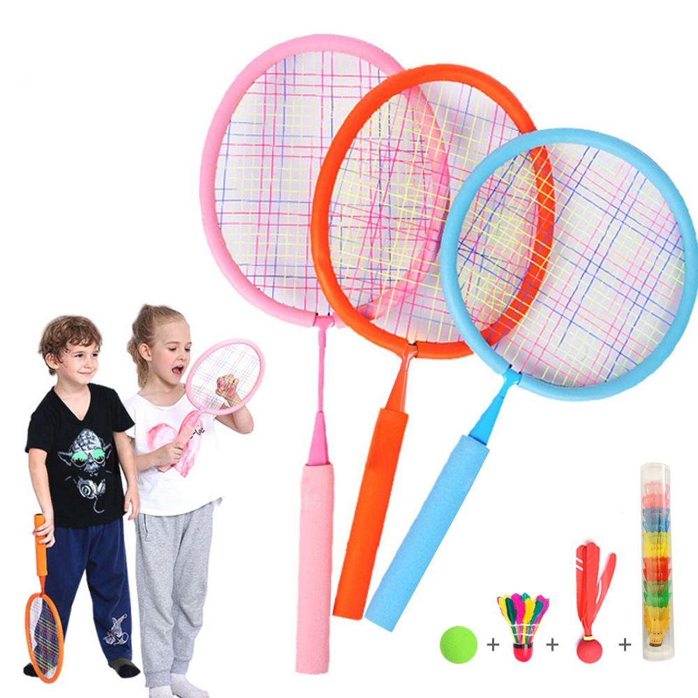 Spielzeug Badminton Tennis Schläger und Ball Set, Indoor Outdoor Strand Sport Spielen Spiel Spielzeug für Jungen, Mädchen, kinder Zufällige Farbe