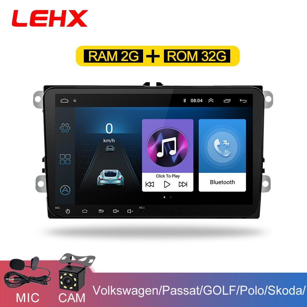 LEHX 9 zoll Auto Android 8.1 Auto radio GPS Auto radio 2 Din USB für VW Skoda Octavia golf 5 6 touran passat B6 jetta polo tiguan