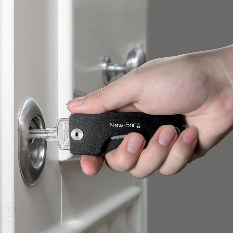 NewBring porte-clés en aluminium métallique EDC hommes voiture porte-clés intelligente femme de ménage nouveau Design EDC clés organisateur porte-clés sac à main