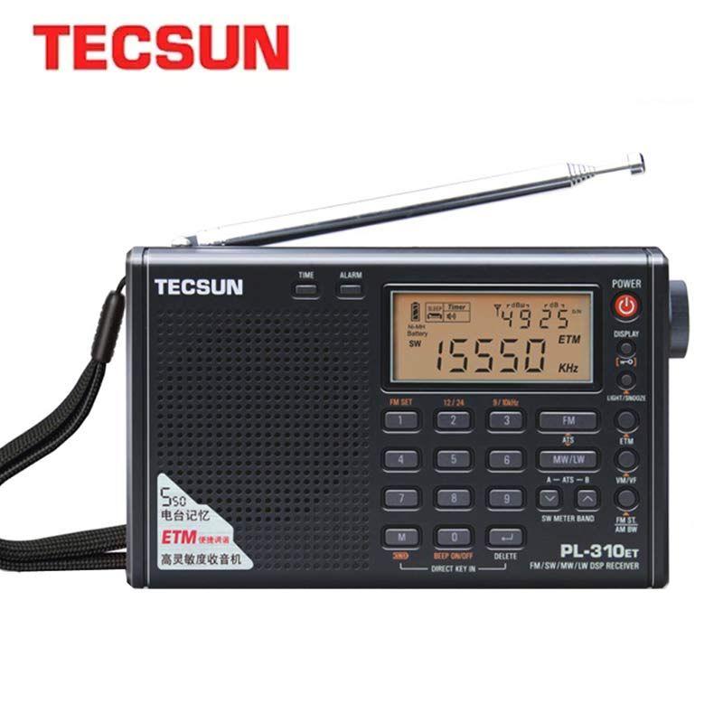 Démodulateur numérique Radio complète Tecsun PL-310ET FM/AM/SW/LW Radio stéréo Radio Internet Portable pour utilisateur anglais russe