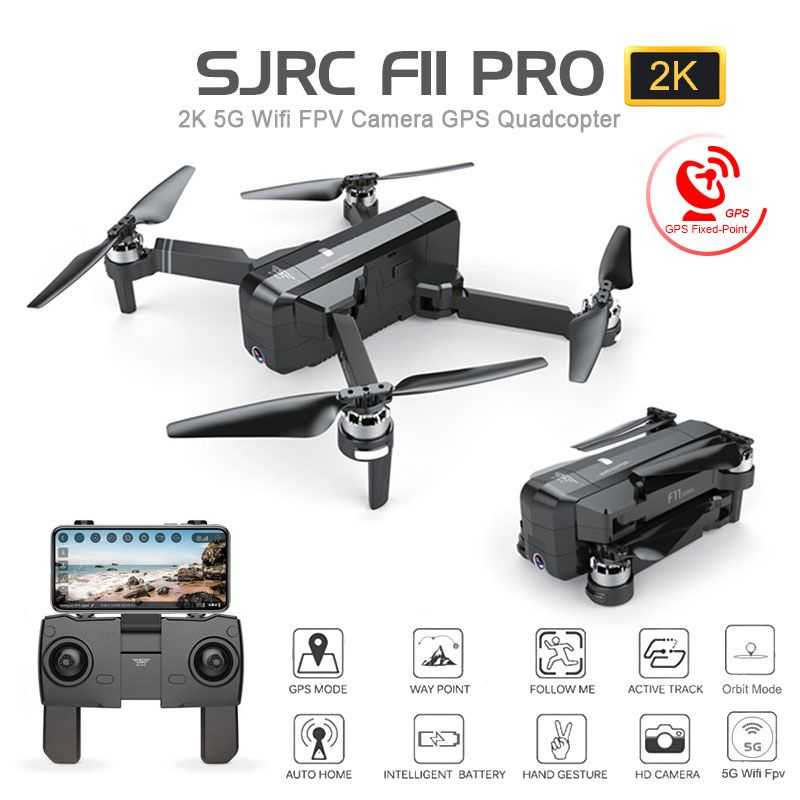 SJRC F11 PRO GPS Drone With Wifi FPV 1080P/2K HD Camera F11 Brushless Quadcopter 25 minutes Flight Time Foldable Dron Vs SG906