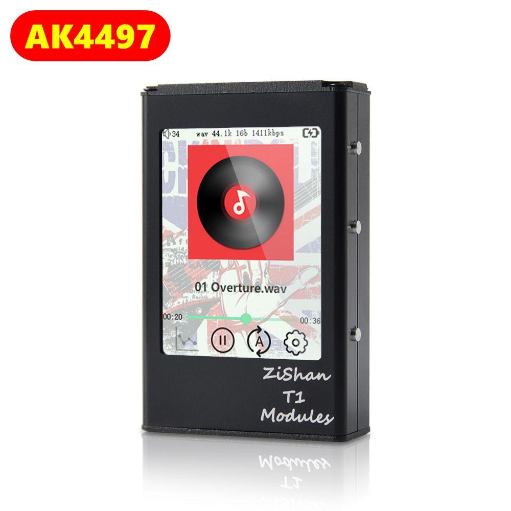 Zishan T1 4497 AK4497EQ lecteur de musique professionnel sans perte MP3 HIFI Portable DSD matériel de décodage écran tactile équilibré AK4497