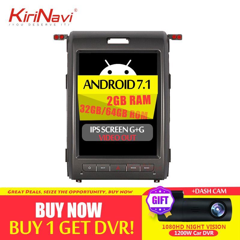 KiriNavi Vertikale Bildschirm Tesla Stil 12,1 Android 8.1 Auto Radio Für Ford F150 Auto Dvd Multimedia GPS Navigation 2009- 2013 4G