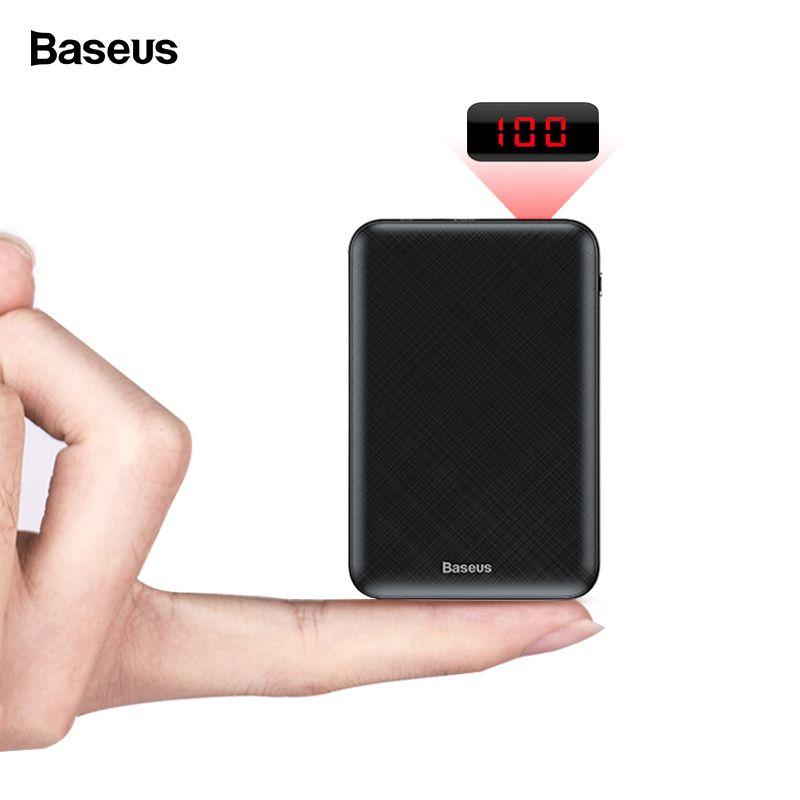 Baseus 10000mAh Mini Power Bank Portable Type C PD Fast Charger 10000 mAh Powerbank For iPhone 11 Pro Xiaomi Mi External Battery