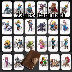 23PCS NTAG215 Game NFC Cards New 4 Hero Data Tag 20 heart Wolf Link For Zelda Breath of the wild NS Switch