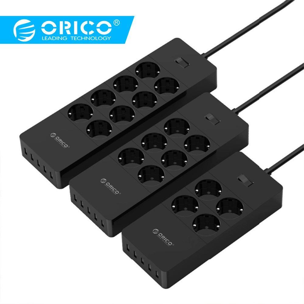 ORICO prise électrique universelle prise EU Extension intelligente multiprise Home Office parasurtenseur 4 6 8 AC avec 5 USB