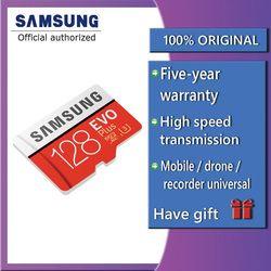 Samsung EVO Plus Micro SD Card 64GB 32GB 16GB 256GB Class10 Microsdsdxc UHS-I 80 MB/S SDHC kartu TF 64GB 128GB + SD Adapter 256G