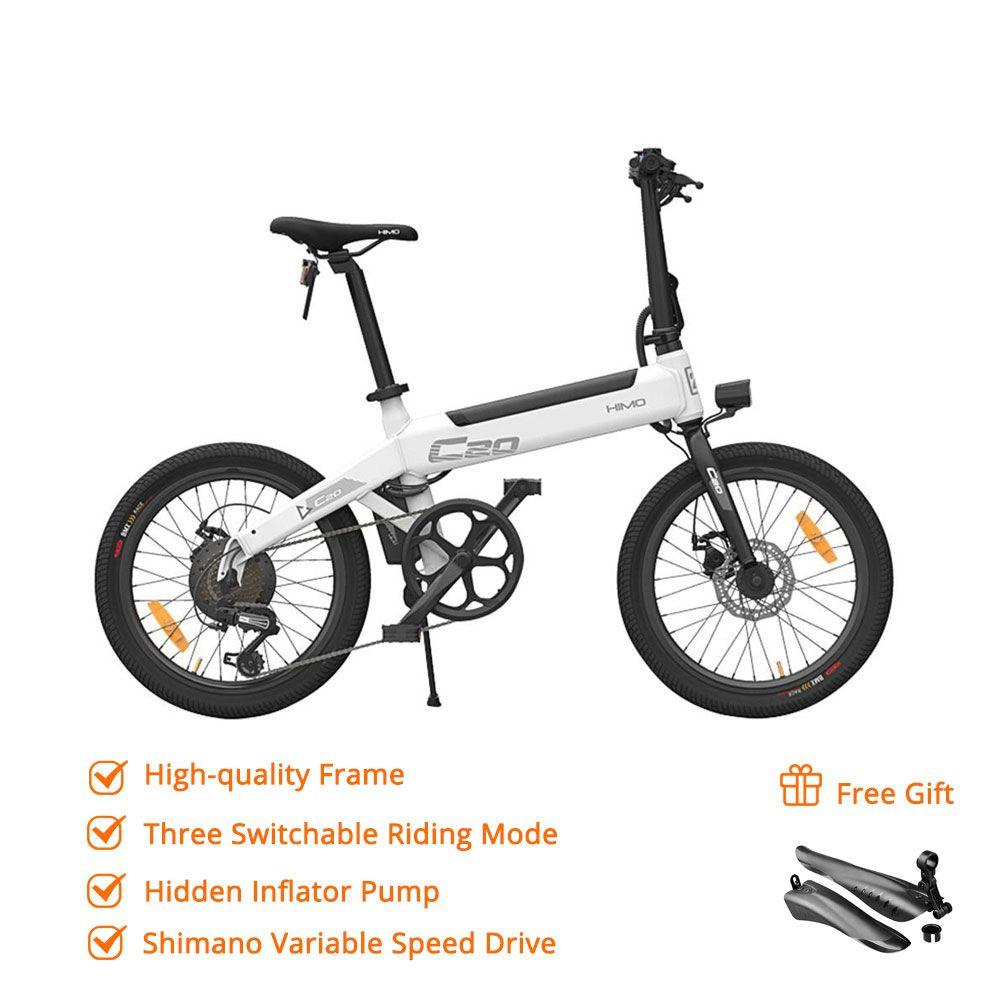 [Kostenloser Duty] HIMO C20 Faltbare Elektrische Moped Fahrrad 250W Motor 25 km/h Versteckte Inflator Pumpe Shimano Variable geschwindigkeit Stick