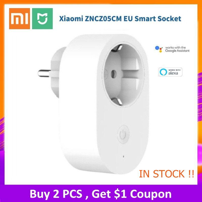 Xiaomi Mijia EU Smart Socket Plug Remote Control Time Switch Intelligent Memory Power-saving Works with Alexa/Google assistant
