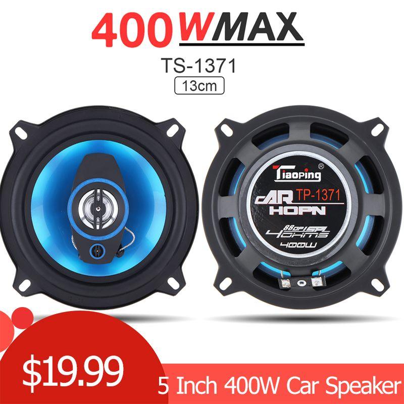 2 pièces 5 pouces 400W 2 voies voiture coaxiale Auto Audio musique stéréo gamme complète fréquence Hifi haut-parleurs haut-parleur pour voitures véhicule Auto